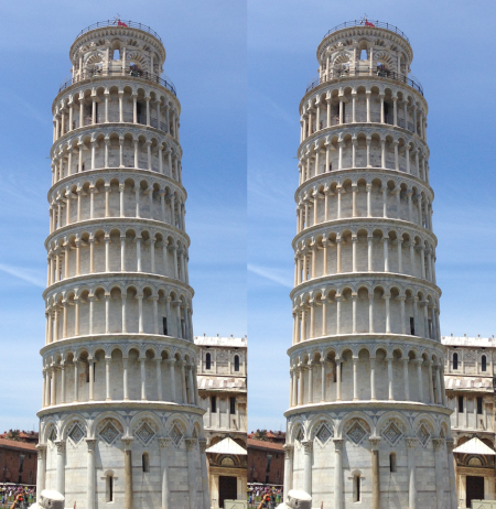 Torre de pisa inclinada