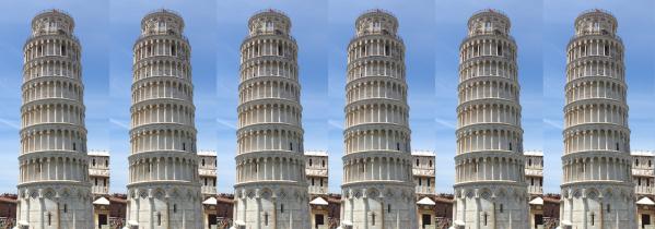 Torre depisa inclinada multiple